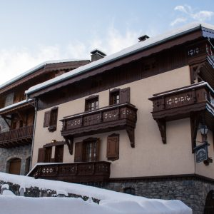 Chalet Alice Velut situated in the village centre of St Martin de Belleville