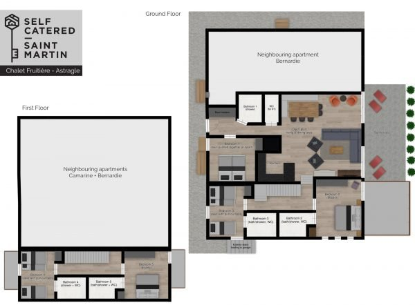 Floorplans Luxury Chalet Apartment Astragle in St Martin de Belleville