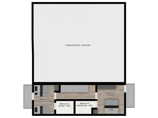 Floor plans - Luxury ski apartment Astragle in St Martin de Belleville