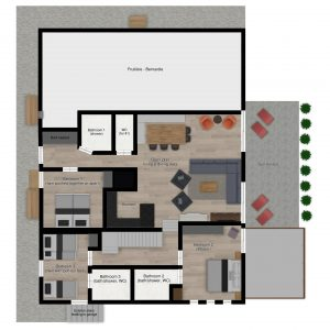 Floor plans - Luxury ski apartment Astragle in St Martin de Belleville