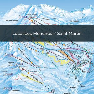 Piste map St Martin de Belleville Les Menuires