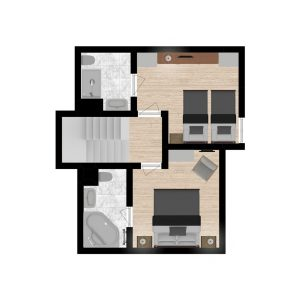 Floor plans Chalet St Peres 3 Valleys