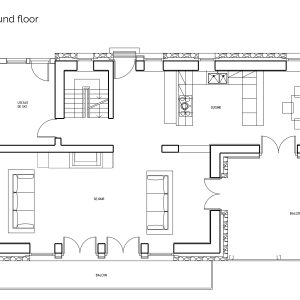 Floor plans of luxury chalet Astilla in St Martin de Belleville