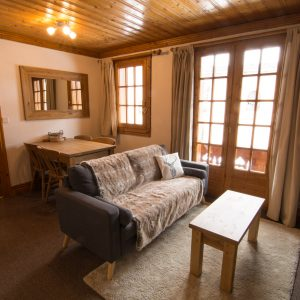Ski apartment in St Martin de Belleville with 2 bedrooms.