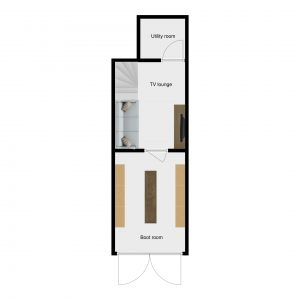 Floor plans of luxury chalet Riondaz in Saint Martin de Belleville