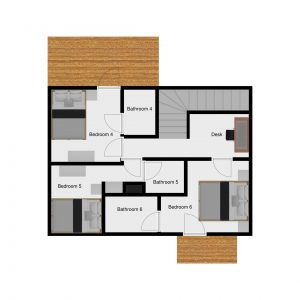 Floor plans of luxury chalet Riondaz in Saint Martin de Belleville
