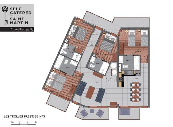 Floorplans - Trolles Prestige 3 - St Martin de Belleville