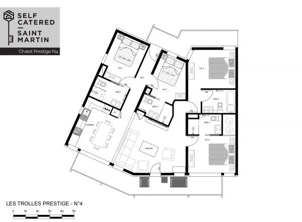 Floorplans - Trolles Prestige 4 - Saint Martin de Belleville