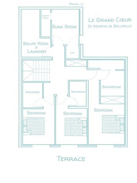 Chalet Le Grand Cœur - Floorplans - Lower ground floor