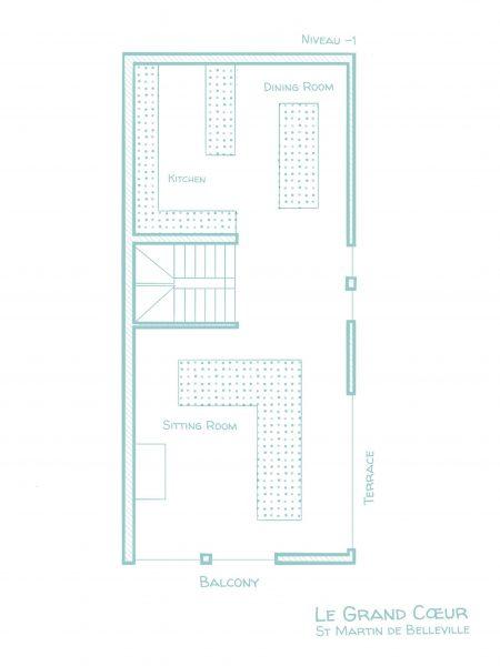 Chalet Le Grand Cœur - Floorplans - Ground floor