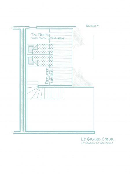 Chalet Le Grand Cœur - Floorplans - Second ground floor