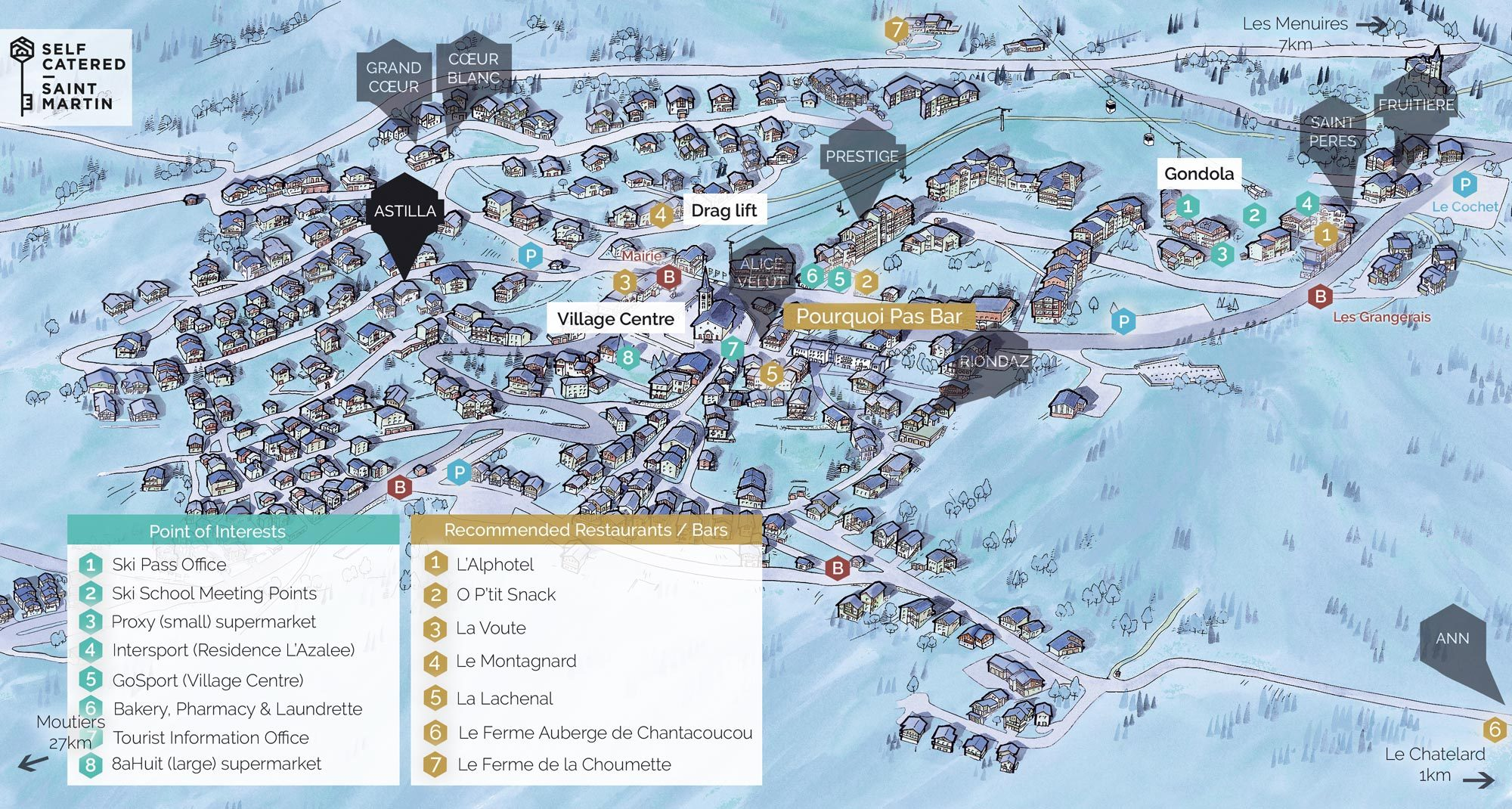 Chalet Astilla in St Martin de Belleville | Resort Map | Self Catered - Saint Martin