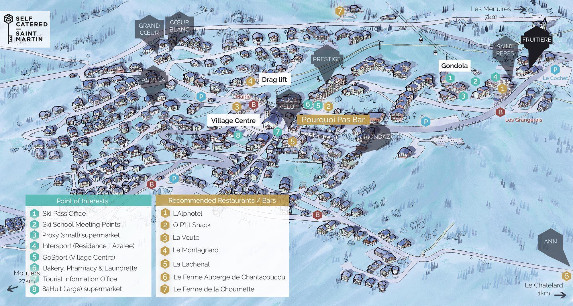 Chalet Fruitiere in St Martin de Belleville   Resort Map   Self Catered - Saint Martin