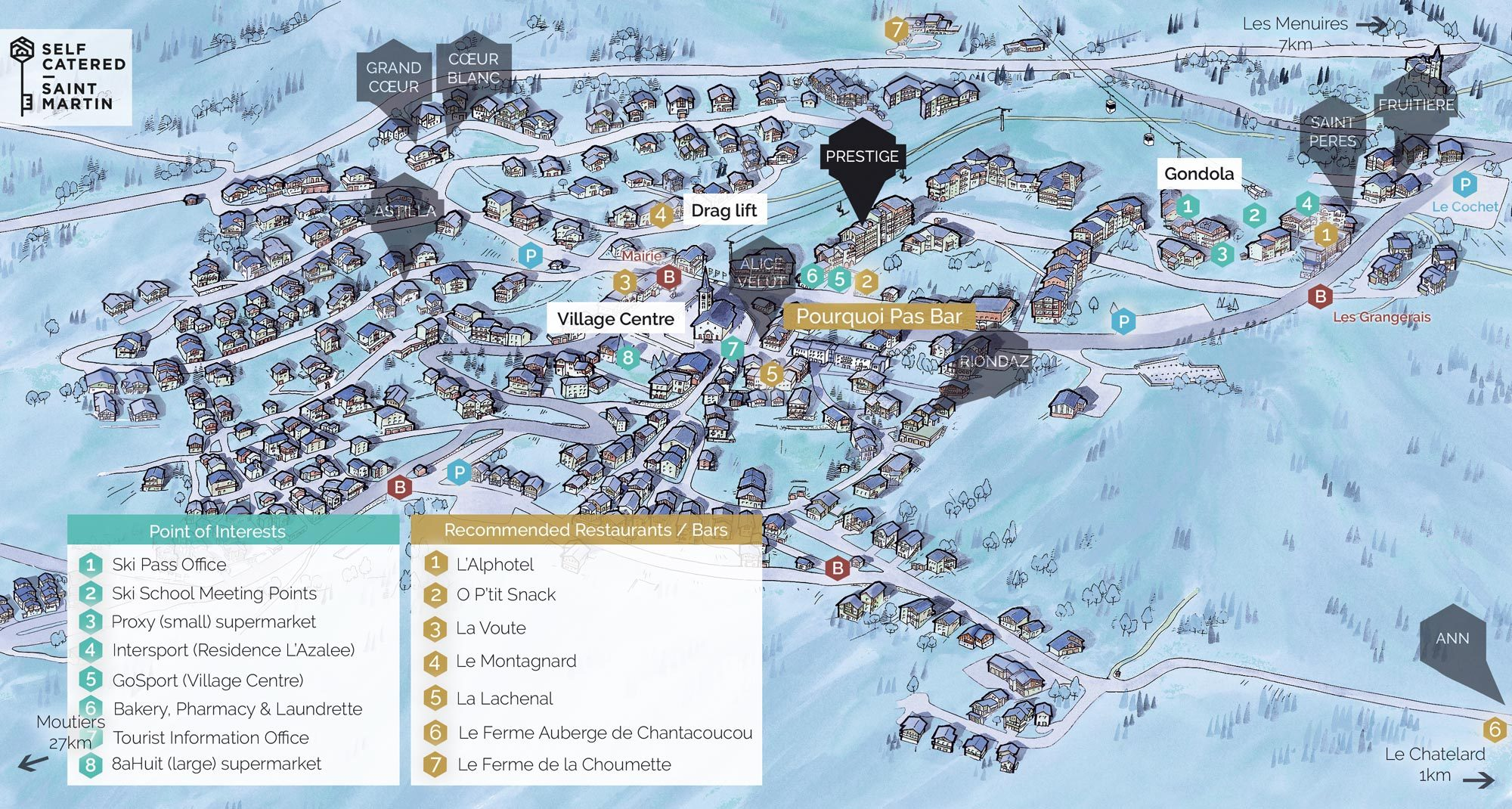 Chalet Prestige in St Martin de Belleville | Resort Map | Self Catered - Saint Martin