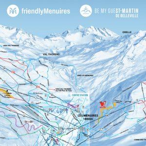 St Martin Les Menuires piste map | plan les menuires st martin
