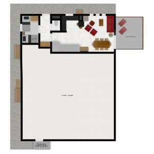 Floor plans of the ski-in ski-out apartment Bernardie in Saint Martin