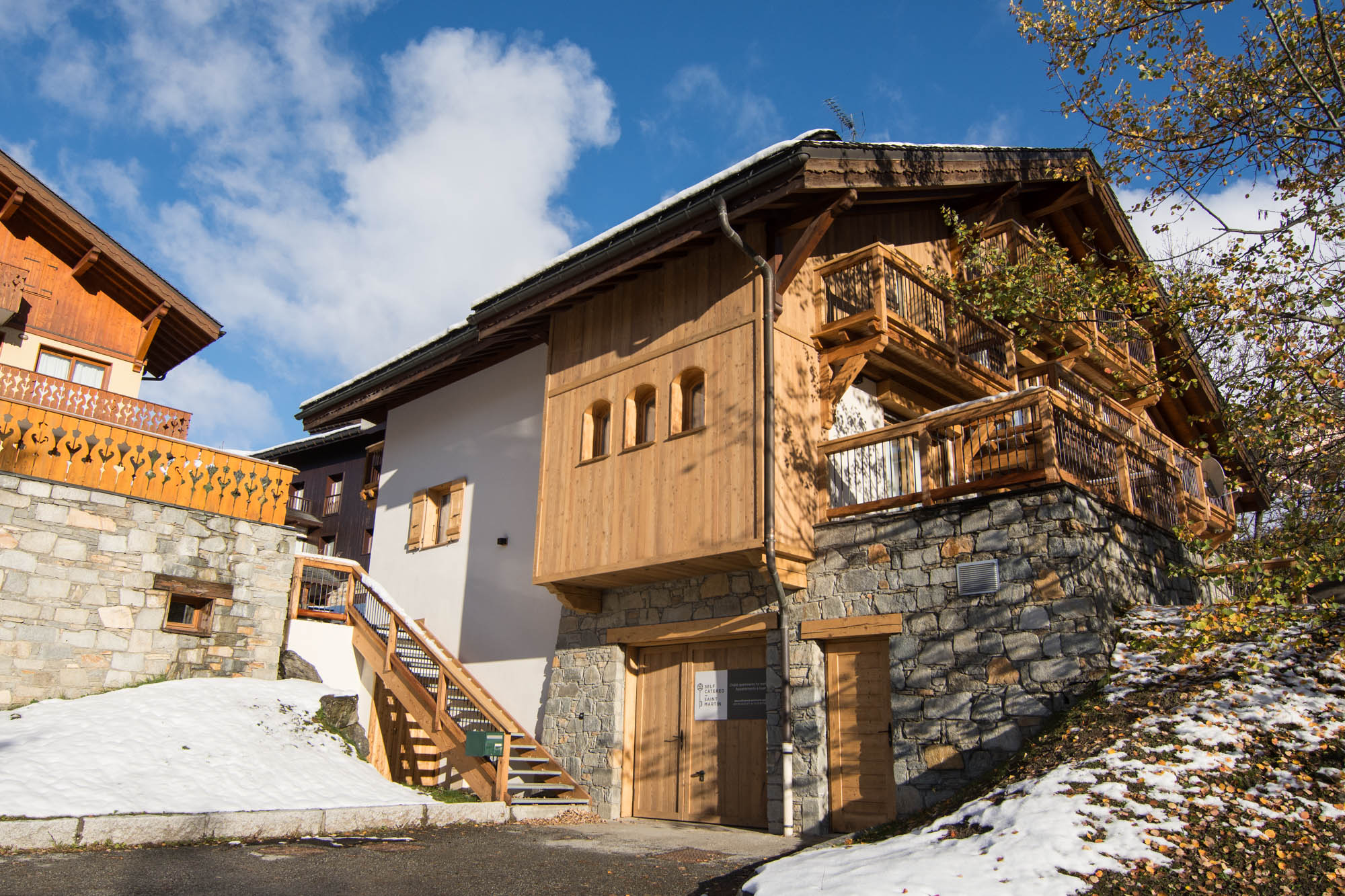 Chalet Fruitiere, located next to the main gondola in St Martin de Belleville