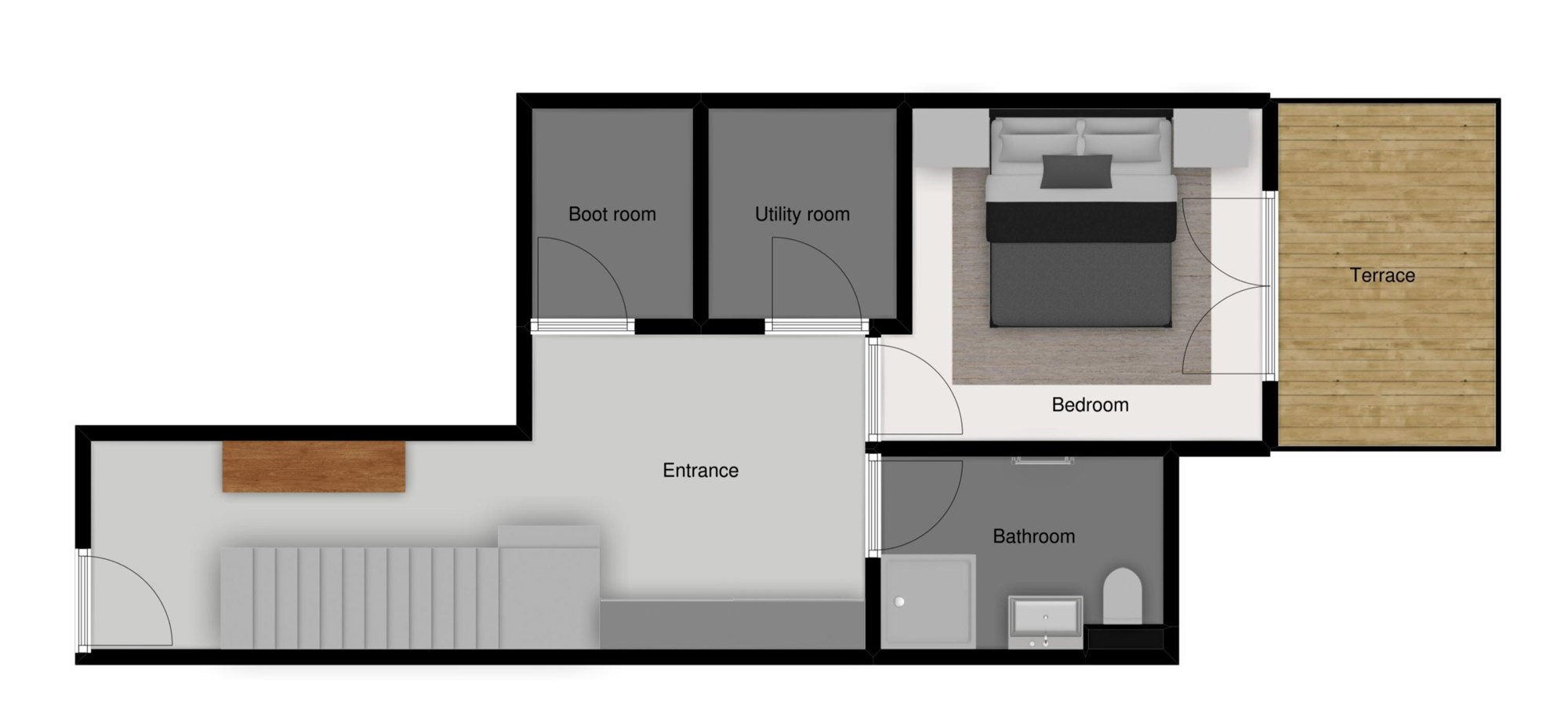 Floor plans of Chalet Le Pic Blanc in St Martin de Belleville - Ground floor
