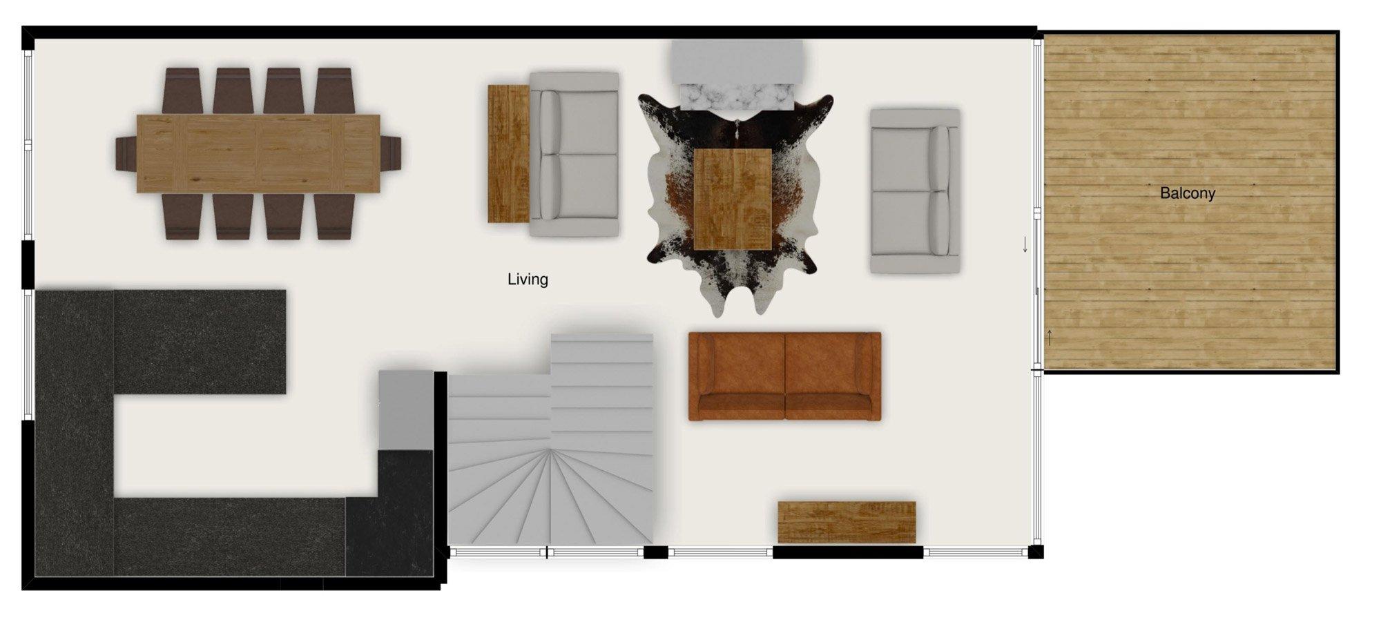 Floor plans of Chalet Le Pic Blanc in St Martin de Belleville - Second floor