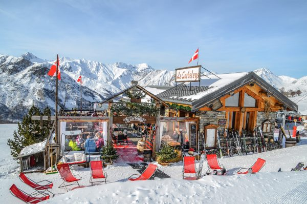 Le Corbeleys restaurant on the ski slopes of St Martin de Belleville, 3 Valleys