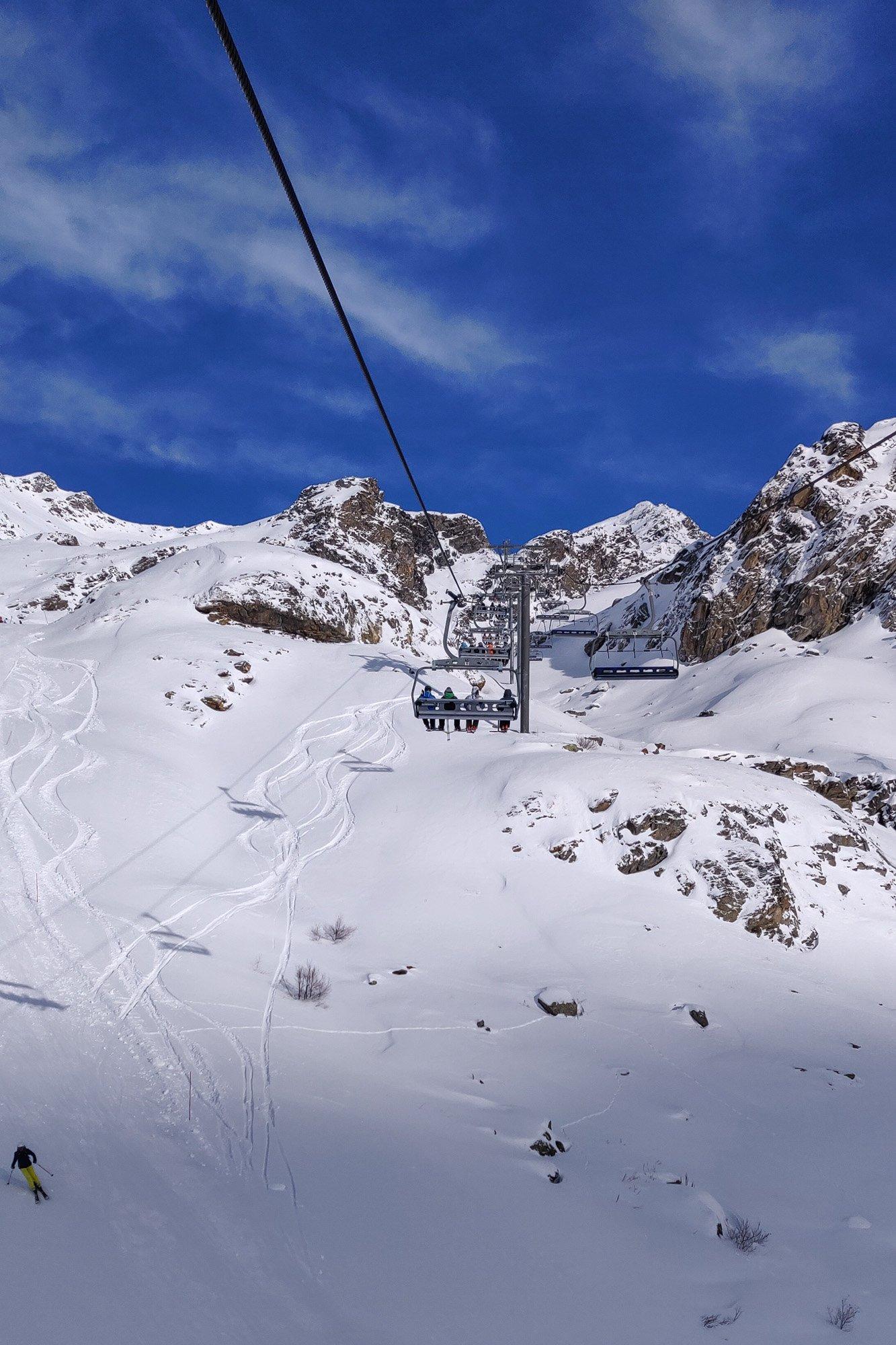 Skiing in Orelle, 3 Vallees
