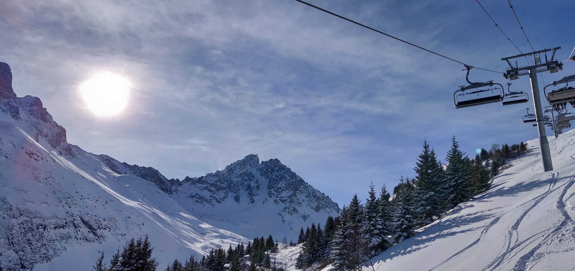 Skiing in Courchevel, 3 Valleys