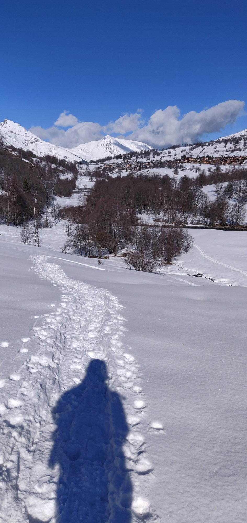 Snowshoe walk in Saint Marcel, Three Valleys