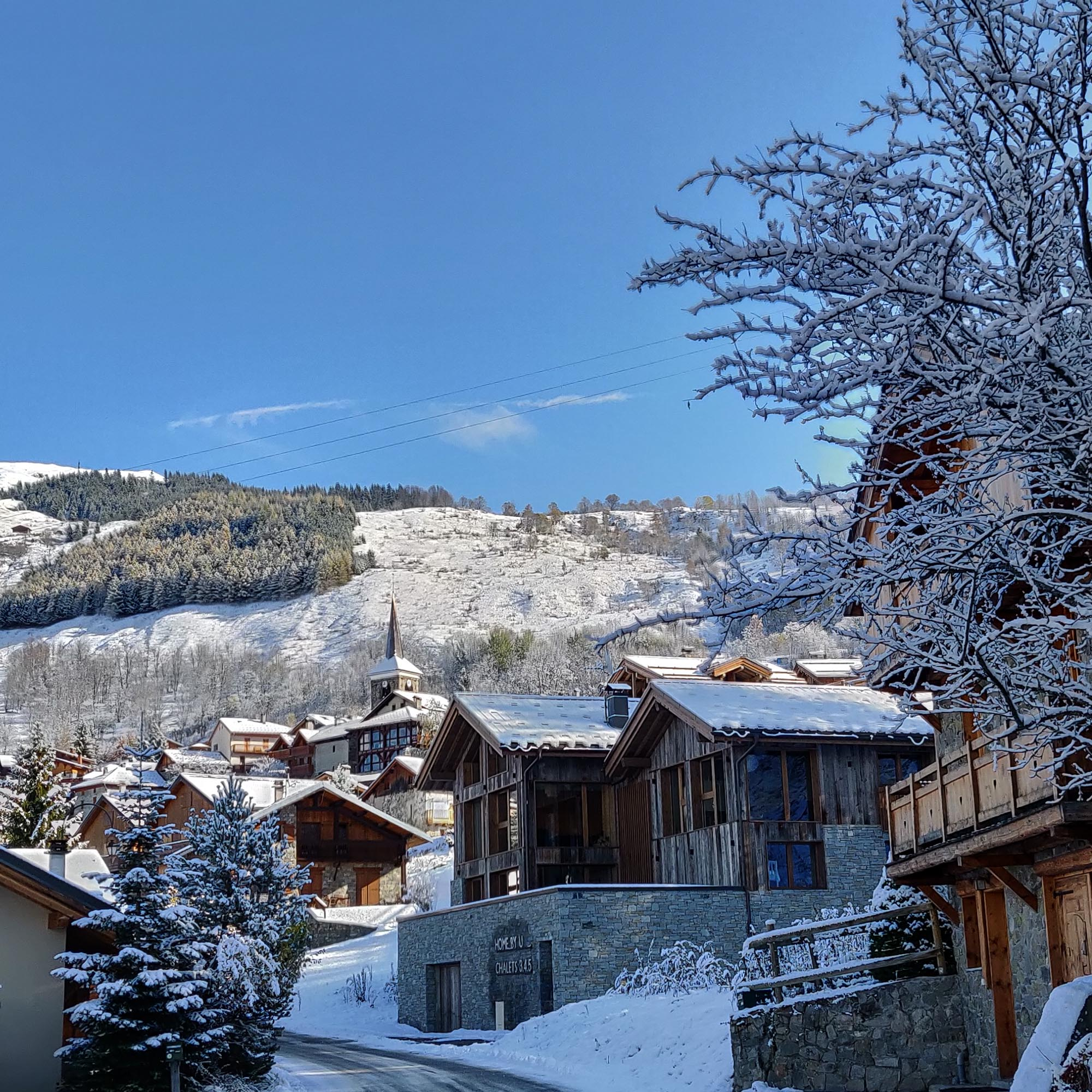Saint Martin de Belleville ski village has plenty of non skiing activities